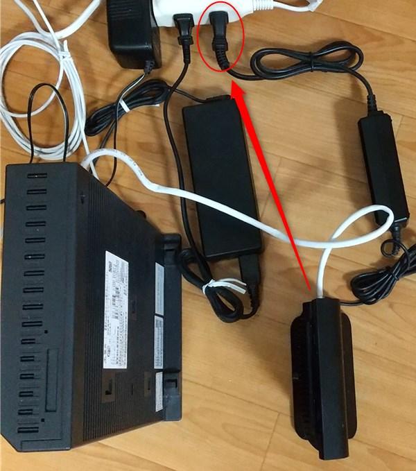 ドコモ光 ルーターの電源を入れる
